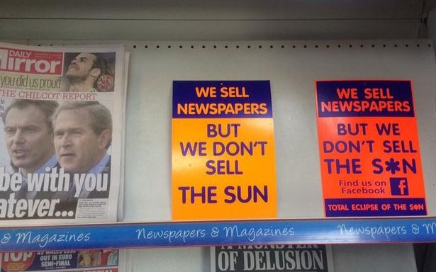 Image for Earlier This Week, Livingston Banned The Sun. After This Weekend Other Clubs Should Consider It.
