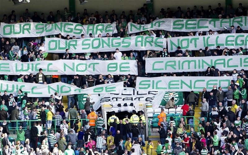 Image for Celtic Fans Must Be Vigilant. Our Enemies Are Watching Us.