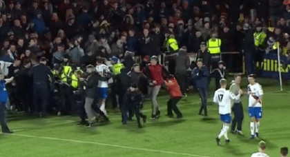 These Sevco Fans Who Think They Belong On The Pitch Need To Be Properly Tackled By The Authorities.