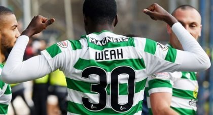 Another Atrocious Refereeing Decision Can Do Nothing To Derail The Celtic Machine And Timothy Weah.