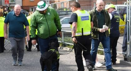Celtic Fans Need To Help Weed Out The Idiots In The Stands Or Sniffer Dogs Are Just The Start.