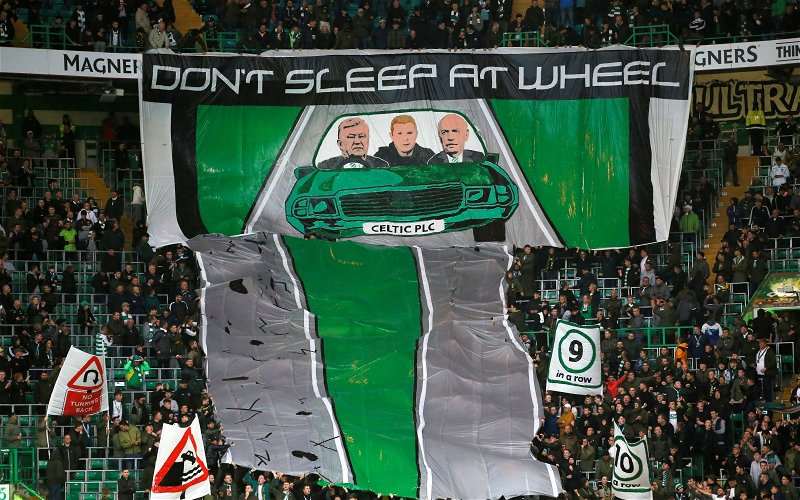 Image for The Banner Outside Celtic Park Today Is Definitely Our Fans … And Its Message Is Serious.