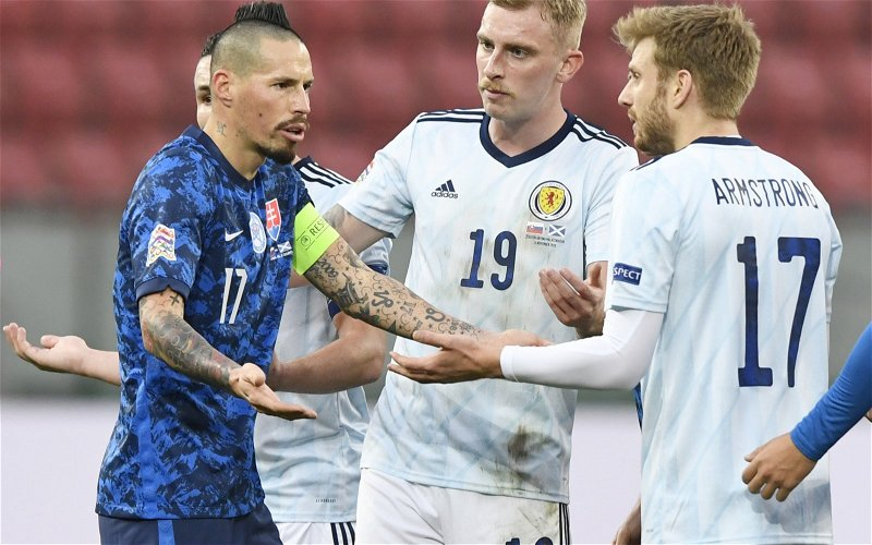 Image for No Celtic-Linked Striker Would Ever Get Away With McBurnie's Rank International Record.